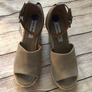 NWT Steve Madden Taupe Wedges 8.5